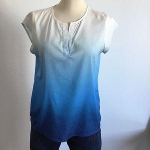Ivanka Trump - Blue & White Short Sleeves Shirt